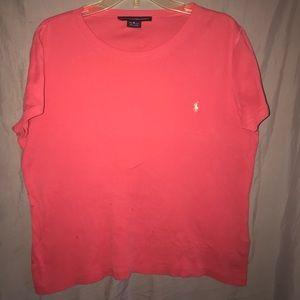 Ralph Lauren Sport Coral t-shirt with emblem